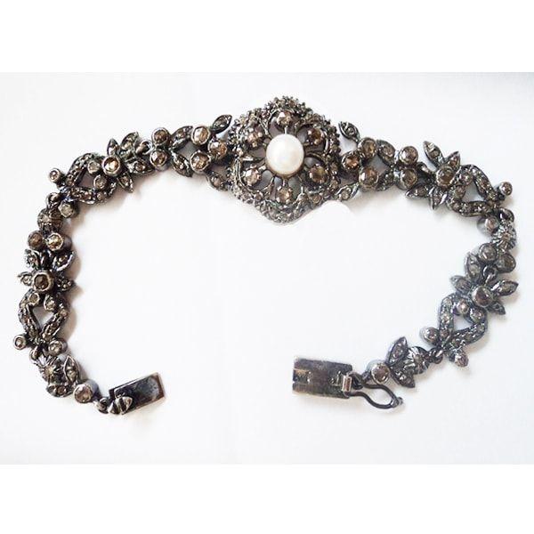 Tennis Rose Cut Diamond Bracelet