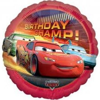 Helium Filled Cars Birthday Champ Foil Balloon