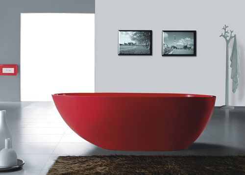 Picasso Stone Bathtub - Red