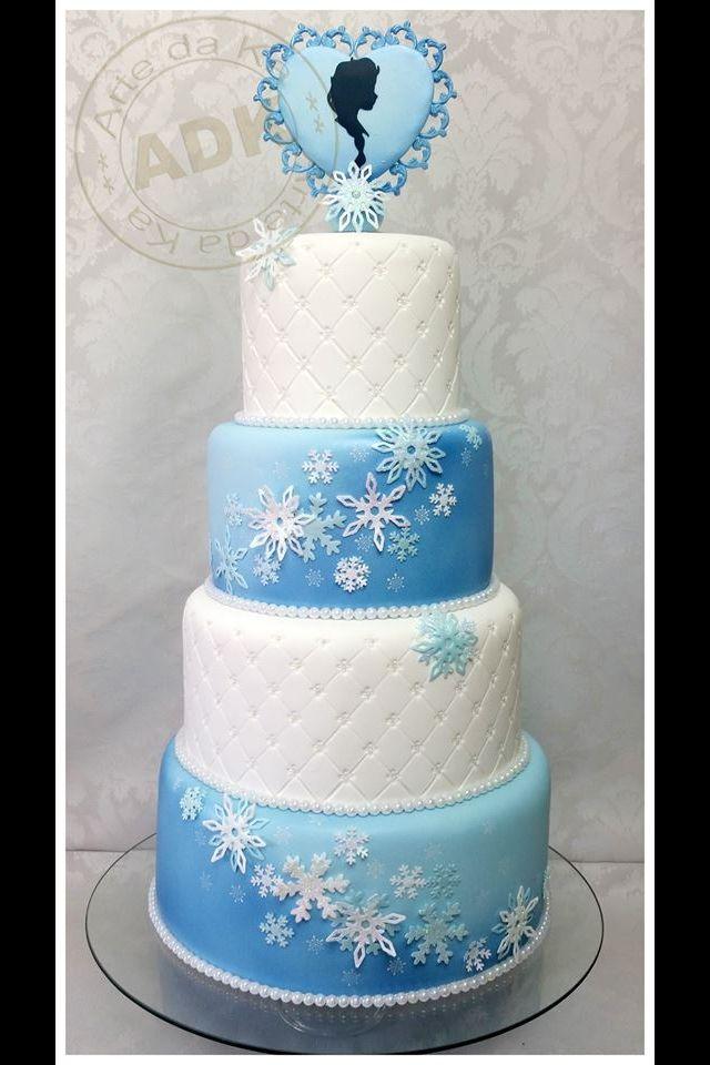 Frozen Elsa inspired cake from ADK!