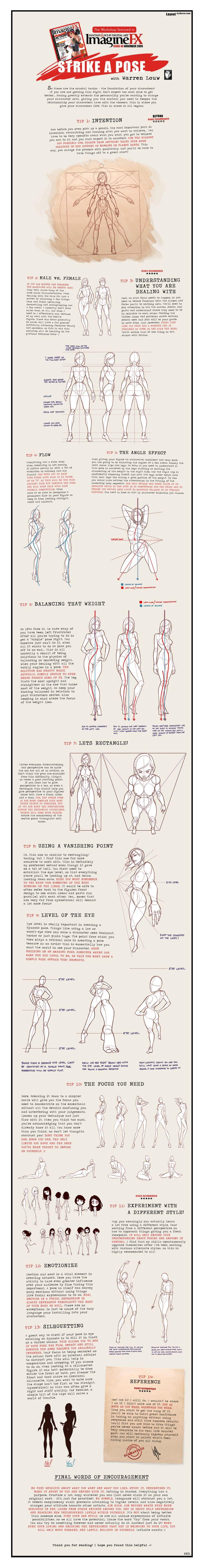 Strike a Pose. Drawing Tips. vma.