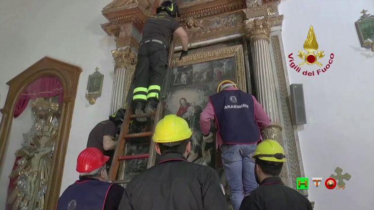 Vigili del Fuoco - Croce - Recupero opere d'arte Chiesa di Santa Croce -...