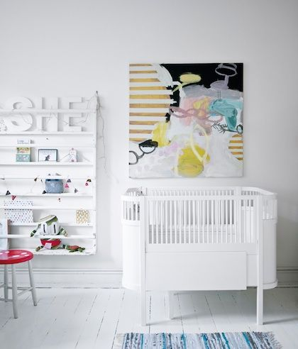 Ouef baby bed, super clean lines and perfectly cozy for little birds.