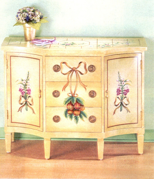 Hand Painted Chest with 2 Side Cabinets   Painted chest ...