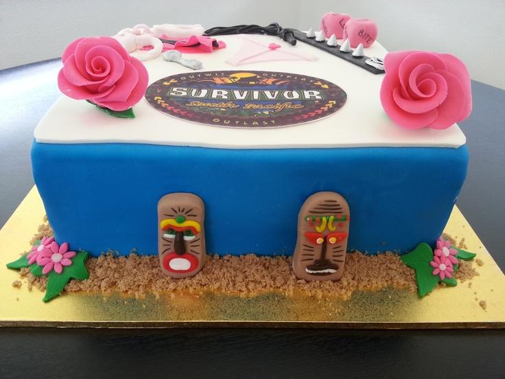 survivor themed hens night cake