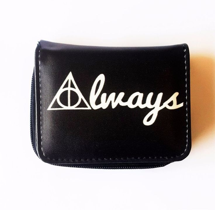 Harry Potter Deathly Hallows Zippered Pouch Pleather Vegan Wallet, Birthday Gift #Unbranded #Envelope