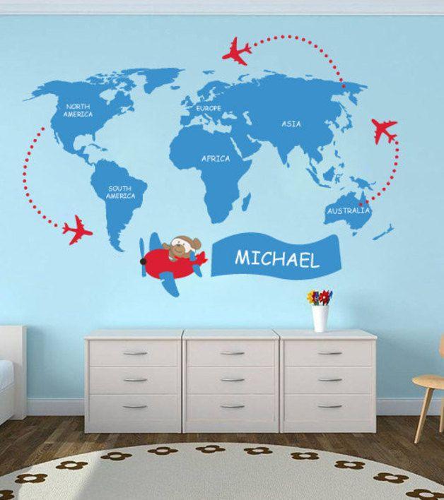 17 mejores ideas sobre mapa del mundo decoraci n en - Papel pintado mapa del mundo ...