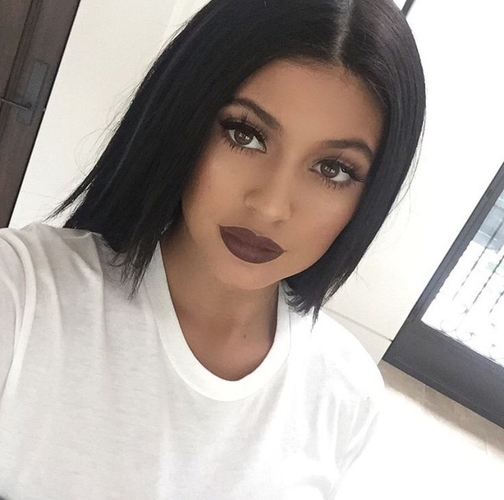 Kylie Jenner with brown lips