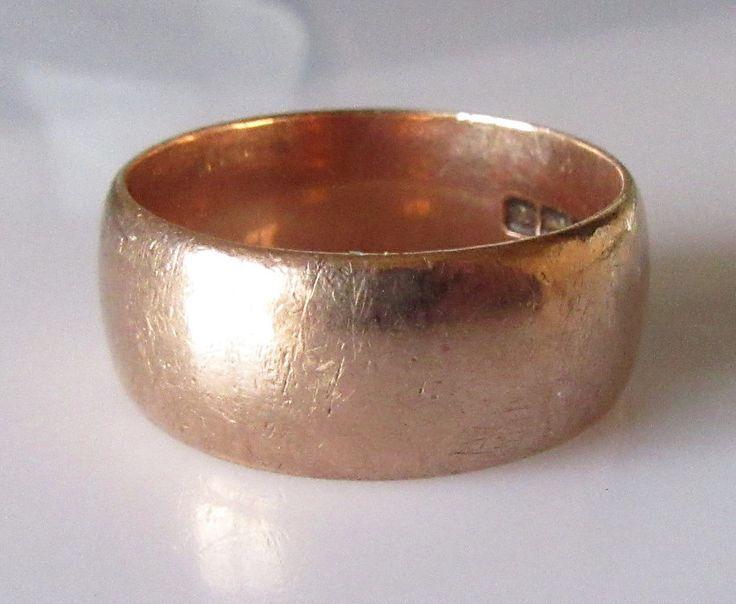 Edwardian Rose Gold Wedding Ring Band by Britishgoldandsilver on Etsy