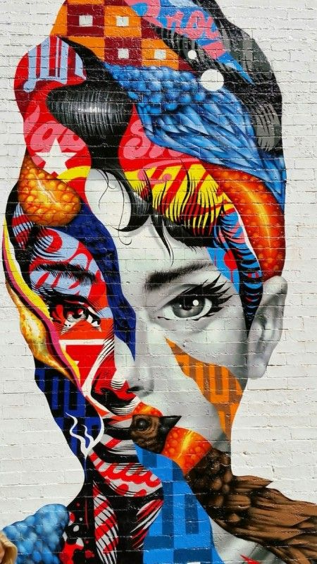 864 best images about art is love on pinterest fine art for Audrey hepburn mural soho