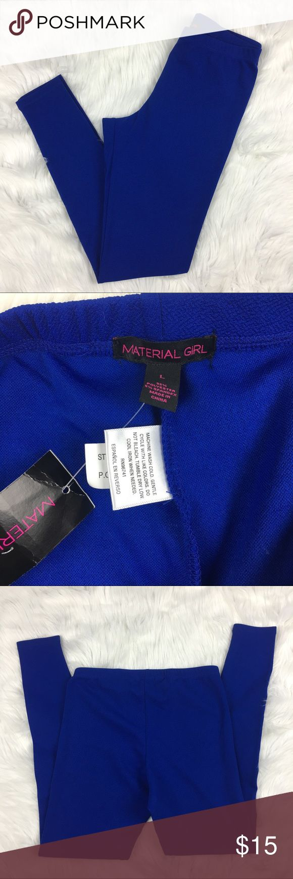 Material Girl Blue Leggings size L NWT Royal blue leggings by Material Girl. Size L. New with tags. Material Girl Pants Leggings