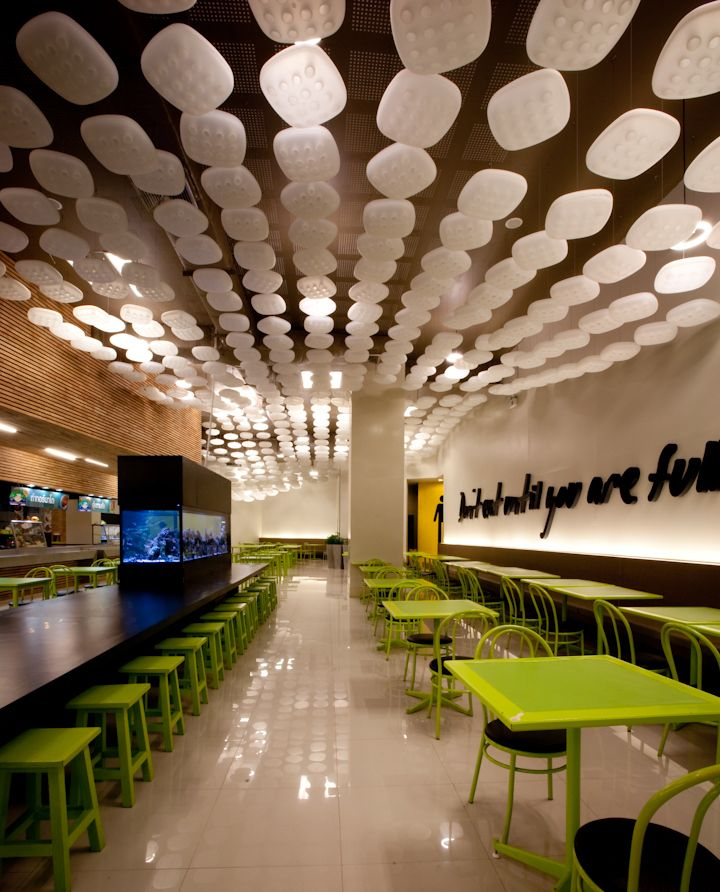 Food Hall Interior Design Food Market Rayong