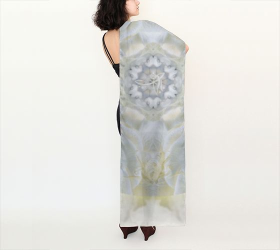 Akasha Bloom | Shop | Art of Where Gardenia #silk #scarf #wearable #art #meditation #unstarvingrtist