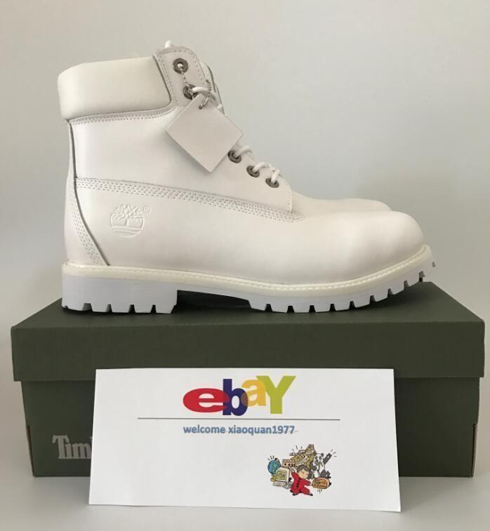New Men's Timberland Classic 6 Inc Premium 10061 Waterproof Boot All White #New #SnowWinter