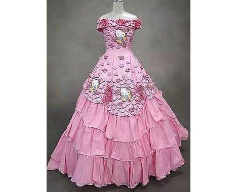 abito da sposa di Hello Kitty. Chiccaaaaaa.................