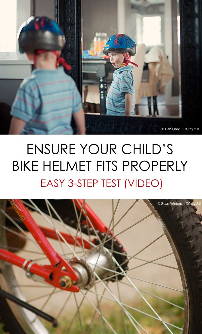Bike Safety: 3-step test to ensure your child's helmet fits properly *great video. does your family wear helmets?