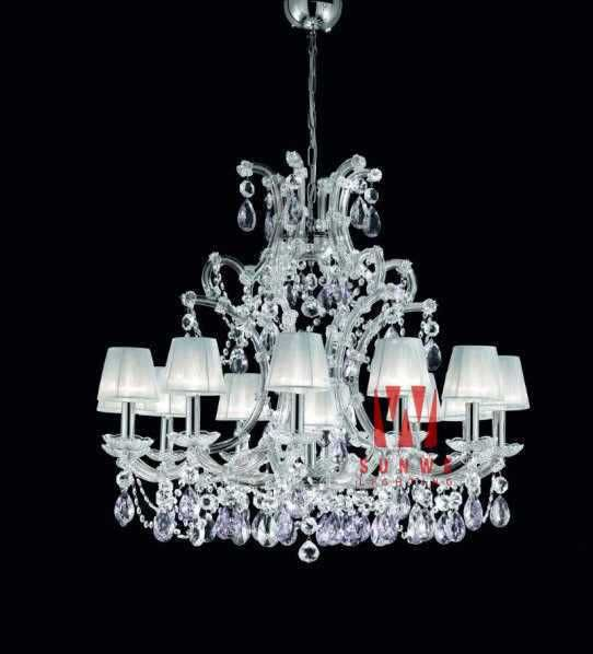 Aliexpress.com : Buy  beautiful chrome crystal chandelier for bedroom FREE SHIPPING elegant candle crystal chandelier lightingC9323 90cm W x 115cm H from Reliable crystal chandelier suppliers on HK SUNWE LIGHTING CO., LTD.