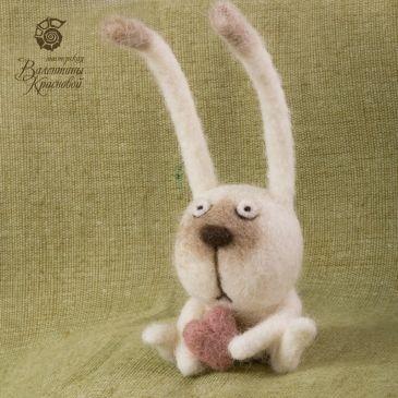 Needle Felted Bunny by Valentina Krasnova