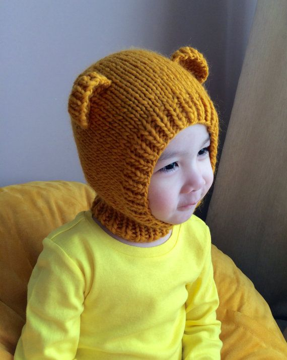 NEW 3T-5T Pooh Bear wool hat 65 by NYrika on Etsy