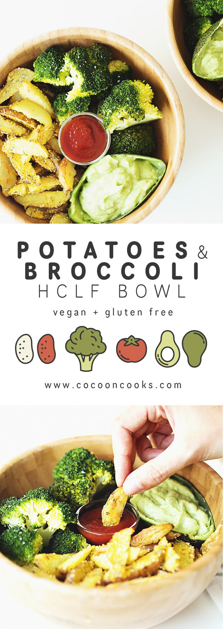 Baked Potatoes with Steamed Broccoli & Guacamole, easy and delicious! #highcarb #lowfat #vegan #recipe