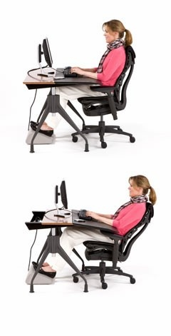 Embody Chair with Envelop Desk: better than a recliner...you can do social media, watch tv and be comfortable!