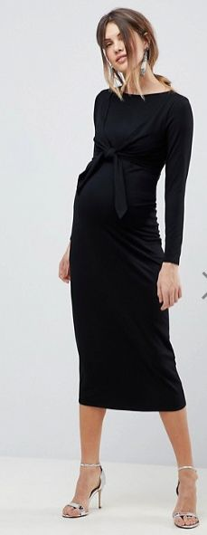 $45 | I love this classy maternity and nursing dress | ASOS MATERNITY NURSING Knot Front Dress | maternity dress | maternity fashion | maternity style | maternity wardrobe | nursing dress | nursing clothes | maternity clothes | pregnancy | bump | #ad
