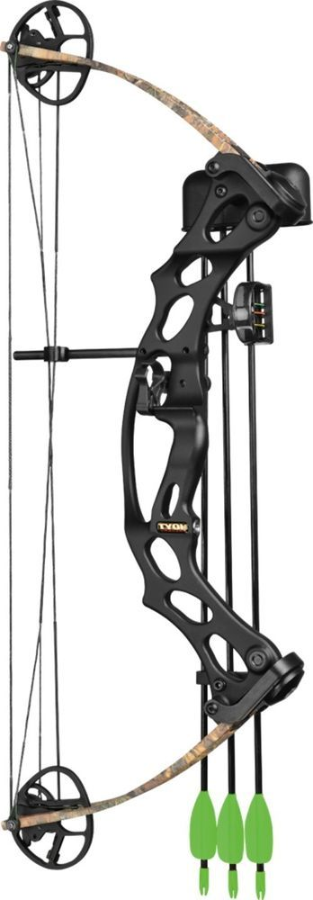 Hoyt Ruckus Jr Kit (LEFT HAND) 3 Arrows. Bow Quiver - Sight - Rest.