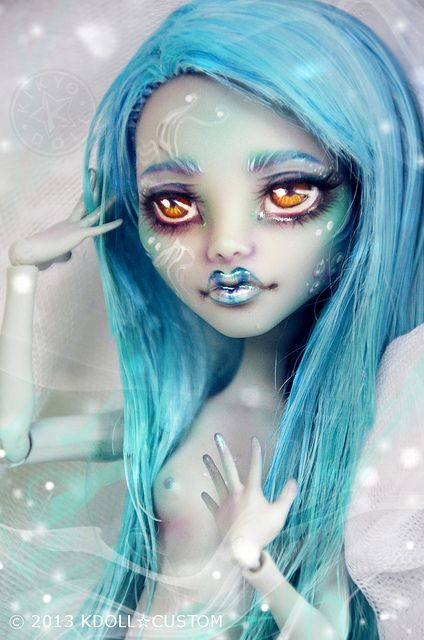 Monster High Ghoulia repaint - Mermaid - Saïren