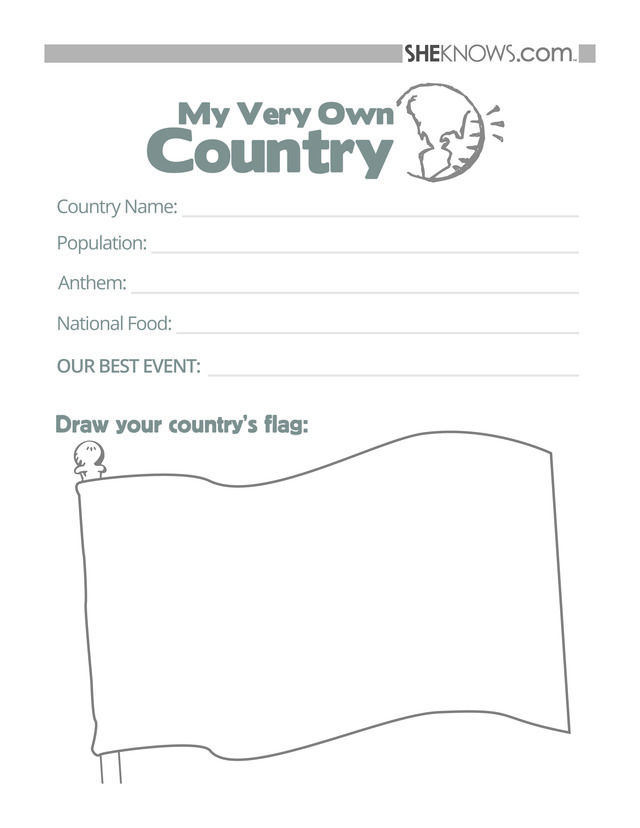 Olympics Meet My Country Free Printable Coloring Pages