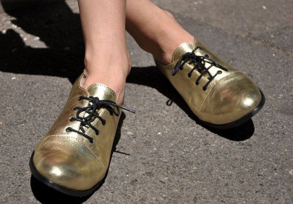 I'm in Love!! --Mariachi Gold Oxfords Leather Oxfords for Women by JuliaBoShoes