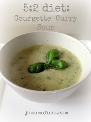 52 diet Courgette Curry Soup 127 calories 5:2 Diet: Courgette Curry Soup