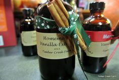 Making vanilla extract at home is easy to do. Purchase vanilla beans and vodka and follow these simple directions. You will love the result!