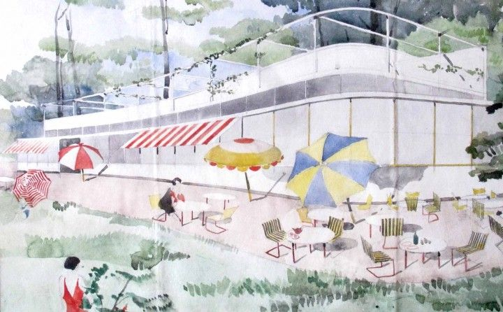 Arne Jacobsen - Pavillon Arne Jacobsen, plage Bellevue