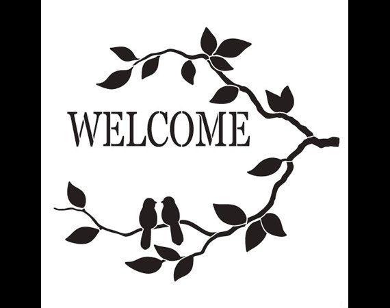Aves de bienvenida Word Art Stencil-seleccione por StudioR12