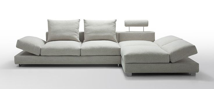 Divani Casa Vasto - Modern Fabric Sectional Sofa with Down Feather Cushioning