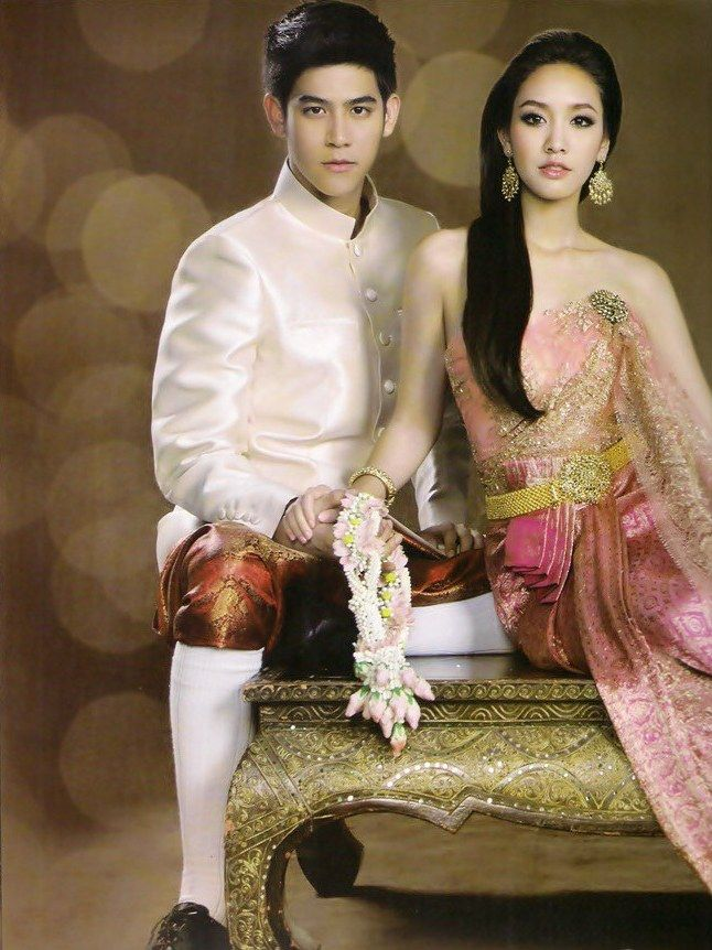 17 best images about thai lady thai tradition dress for Thai style wedding dress