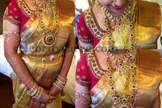 Bride in Red Sequins Blouse | Saree Blouse Patterns