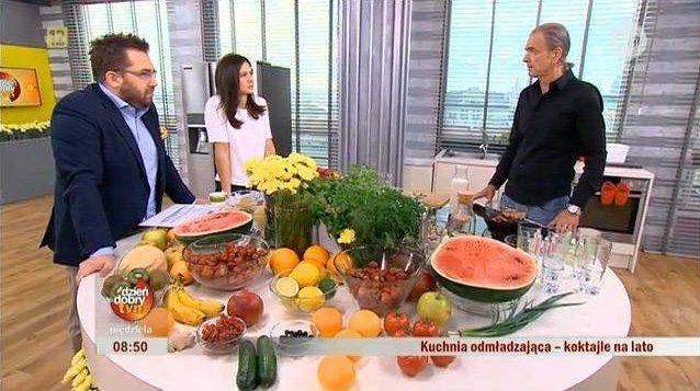 W programie Dzień Dobry TVN Dr Marek Bardadyn przygotowywał koktajle odchudzające. Zapraszamy do obejrzenia programu.