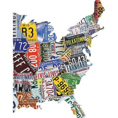 Best Puzzels Images On Pinterest Jigsaw Puzzles Puzzle - Us map license plate puzzle