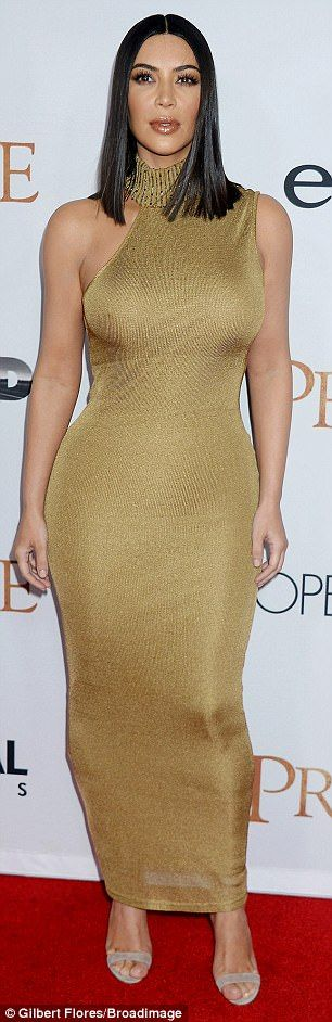 Kim Kardashian wows in skintight gold dress at The Promise premiere #dailymail http://snapmilfs.com/?id=50_plus_milf_tube