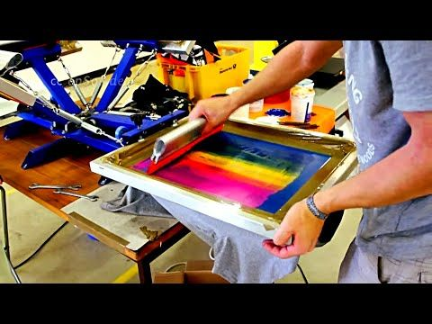 How to build a MULTI-COLOR T-SHIRT PRINTER for $100.00 - YouTube