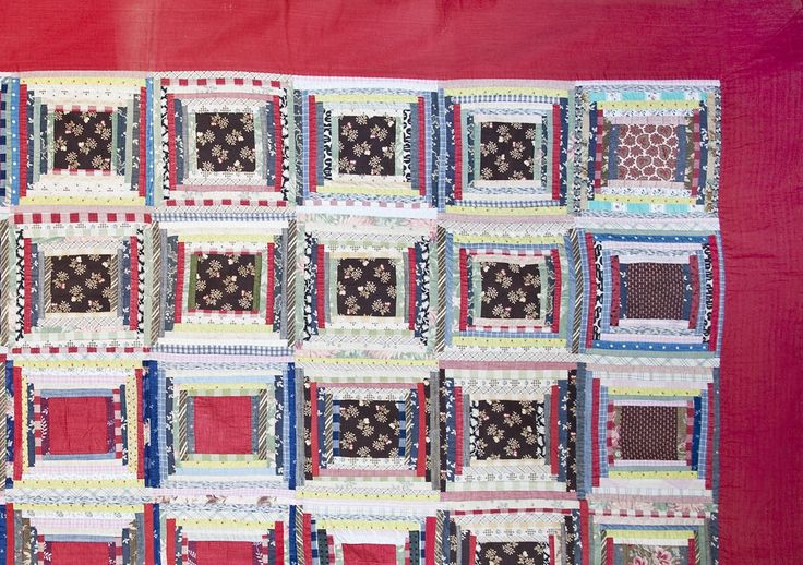 """Buy """"Log Cabin Courtyard Steps"""" Quilt c. 1890 by Maxine Snider Inc. - Limited Edition designer Accessories from Dering Hall's collection of Arts and Crafts Traditional Throws."""