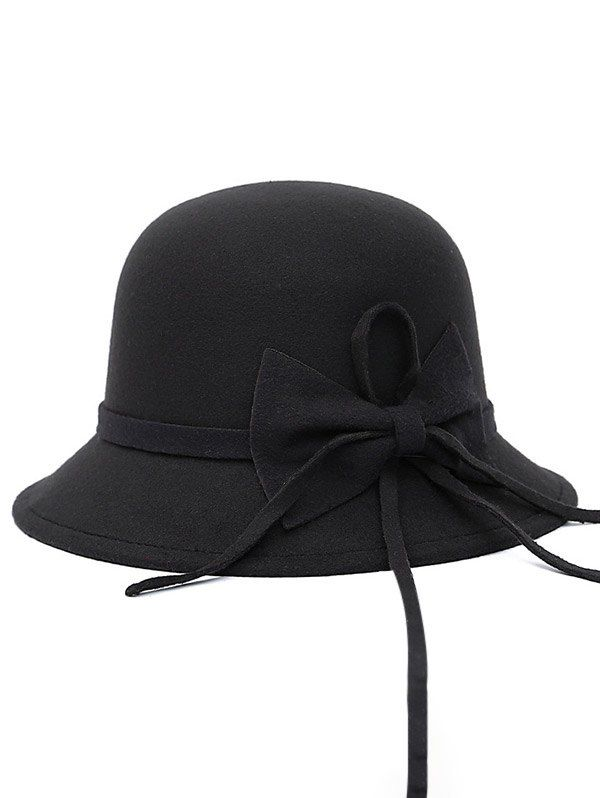 Bowknot Long Band Felt Fedora Hat #women, #men, #hats, #watches, #belts, #fashion