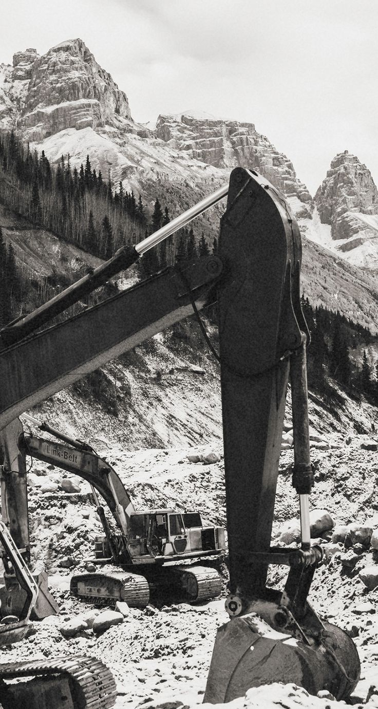 Excavators at Dan Creek, Alaska.  The longest lived placer gold mine in the state, continuously mined until the present day.   Buy photo prints by Fred Denner, photographer. Original photos and designs. Buy photos online. Wall art, all my photos are the original work of Fred Denner. All rights reserved. Thank you for your interest in my photography.  │  gold, gold mining, alaska, alaska wilderness, dan creek, wrangell st elias national park, minerals, excavator