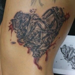 40 best glass heart tattoo images on pinterest heart for Shattered glass tattoo