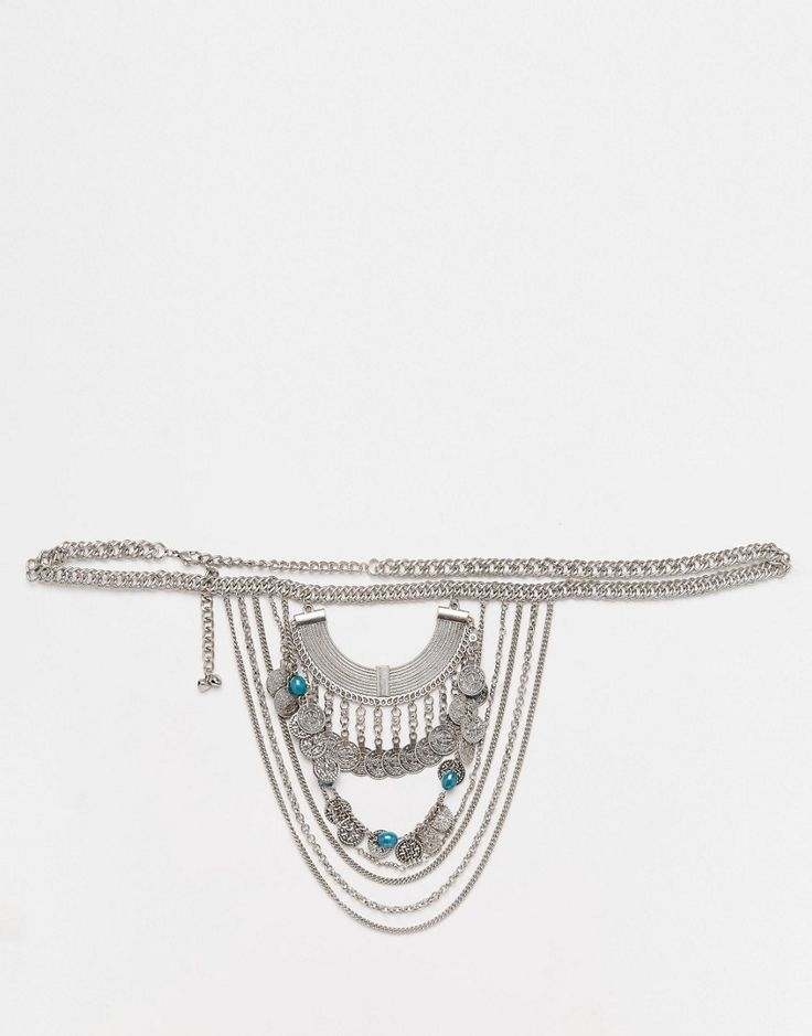 Image 1 of ASOS Side Drape Chain Belt