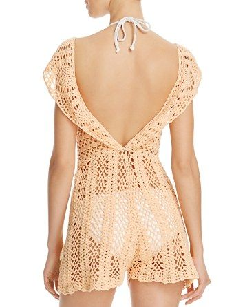 Catch the island vibe in Minkpink's holiday fave, this sheer crochet dress is the ideal bikini coverup and beach-to-bar getaway companion. | Cotton | Hand wash | Imported | Fits true to size, order yo