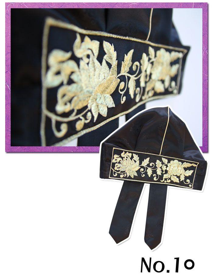 HANBOK CAP Gold Embroider Korean traditional clothes hat dress Boy party Korea #FairyCloset #Hanbokboycap