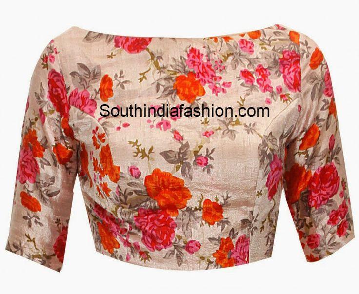 boat neck blouse designs for cotton sarees - Google Search