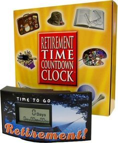 Retirement should be a time to celebrate, Rosemary Co can help with this Time countdown clock.